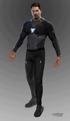 Avengers: Infinity War Concept Art - Iron Man Mk 50 suit-up sequence by Phil Saunders * Iron Man Mk 50 suit-up sequence. Stage one: Original undersuit (design by Josh Nizzi.) The nanotech was intended. Marvel Comics, Marvel Art, Marvel Heroes, Marvel Characters, Marvel Avengers, Costumes Marvel, Iron Man Art, Iron Man Wallpaper, Iron Man Avengers