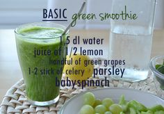 Little Miss: Detox = arkeen paluu - BASIC green smoothie & POSTWORKOUT green smoothie