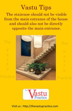 Vastu tip: The staircase should not be visible from the main entrance of the house and should also not be directly opposite the main entrance. Such a staircase disturbs the harmony and equilibrium of the house. Contemporary Apartment, Contemporary Garden, Contemporary Bedroom, Kitchen Contemporary, Contemporary Wallpaper, Contemporary Architecture, Modern Contemporary, House Entrance, Entrance Table