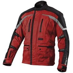 MotoCentric Brigade Jacket - Red Black