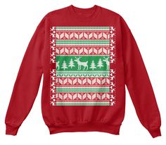 Tipsy Elves Ugly Christmas Sweater Deep Red  T-Shirt Front