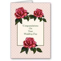 51 best anniversary wedding congratulations images on pinterest shop wedding congratulations christian pink roses card created by joyart m4hsunfo