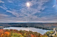 Dorset, Ontario from the Dorset Scenic Lookout.