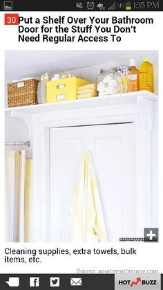 Storage in bathroom. Really want to do this! Samantha... Can't wait till you get here so I can put you to work!