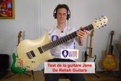 Test vidéo d'une guitare avec un cadre en aluminium, conçue en Suisse par Relish Guitars