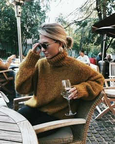 Cozy oversized knit sweater.