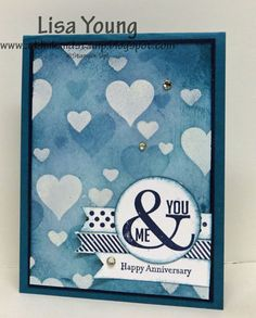 Masculine Bokeh Anniversary card by genesis - Cards and Paper Crafts at Splitcoaststampers