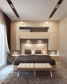 beige bedroom on Behance