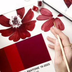 Pantone postcards serve as the muse for watercolor artist @limkina's floral paintings. #ColorInspires #FlowerFriday #Pantone