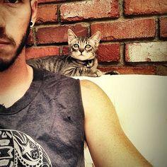 For Sarah -It's Josh {twenty|one|pilots}with a cat!