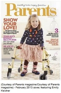 Feel Good Story of the Week: 'Parents Magazine' Cover Feature Girl with Spina Bifida - Pinned by @PediaStaff – Please Visit http://ht.ly/63sNt for all our pediatric therapy pins