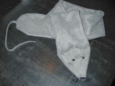 Mausschal aus altem Schal / Mouse scarf made from old scarf / Upcycling