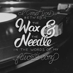 Hand-lettered The Gaslight Anthem lyrics by Joshua Phillips