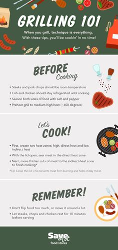 Grilling| Grilling Tips | Cooking| Meat Tips| Grilling Techniques | Before Cooking| Meat Seasoning | Timing Your Meat| Preheating |  #savealot #savealotinsiders
