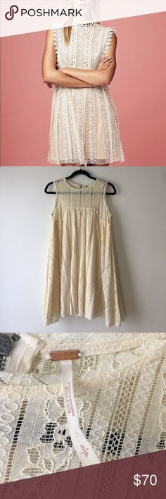 NWOT FREE PEOPLE FOREVER BABY DOLL DRESS Brand new. Size small Free People Dresses Midi