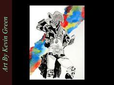 Kairi Hojo watercolor (speed painting)