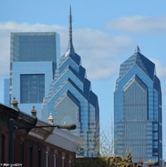 The three largest buildings in the City of Brotherly Love: Comcast Center on left, Liberty One in center and Liberty Two on right.