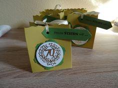 Tischdekoration 70. Geburtstag Schachtel Tüte Stampin up Verpackung Männer