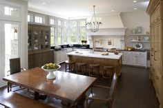L. Cramer Builders remodelers kitchen white and black traditional