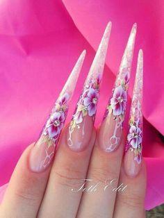 Nails Nail Art leaf, frumză, лист, листик, листья , foglia, nail, one stroke, svarovski