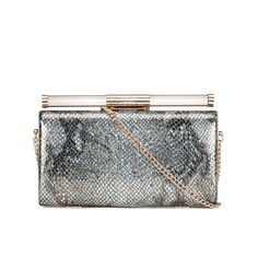 Buy Dune Bonnie-Lee Clutch Bag - Pewter Snake here at MyBag - the only online boutique you'll need for luxury handbags and accessories. Free delivery now available.