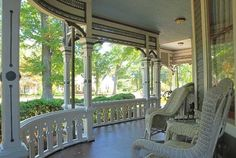 Victorian Porch with sawn balusters