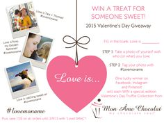 Valentine's Day Giveaway !!! #lovemoname and win a treat for someone sweet!