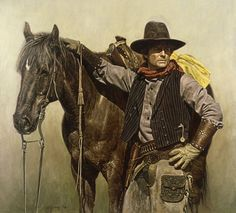 Affordable fine art prints, original oils, illustrations, military history brought to life by renown Civil War and Military artist Don Stivers. Into The West, Cowboy Horse, West Art, Le Far West, Mountain Man, Horse Art, Native American Art, Animal Paintings, New People