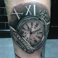 200 Popular Pocket Watch Tattoo & Meanings 2016 - Part 3