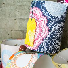 'Bohemian' limited edition lampshade, part of the 'Origin Collection', exclusively hand drawn & designed by Rachael. Digitally printed fabric & manufactured to a high standard in the UK!