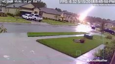 Daytona Beach security camera captures the moment a bolt of lightning struck a house and rattled a neighborhood.