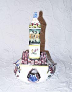 Beautiful Rare 40s Filcer Majolica Polychrome Ceramic Tower Ashtray Portugal EUC #Eclectic