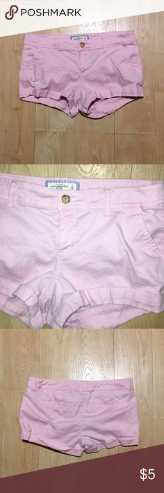 Abercrombie Baby Pink Chino Shorts Cute and girly Abercrombie baby pink Chino shorts perfect for a classic look this summer. I believe they have a 3in inseam. 100% cotton. Size 8. Bought for around $40, will be selling for $5. Excellent condition. **If you've seen this marked as sold on my closet, it's because someone bought it while I was away at school and I was unable to ship. I am now home for the summer and will now be able to ship these as soon as they are sold. Please let me know if…