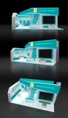 Mandiricitra.com   Desain Stand Pameran Exhibition Stand Design, Exhibition Booth, Booth Design, 3d Design, Pt Pln, Trade Show Design, Interior Sketch, Small Buildings, Design Inspiration