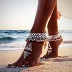◄Saanvi► Vintage Silver Anklet Bracelet