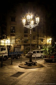 Barcelona, El Born at night  Catalonia
