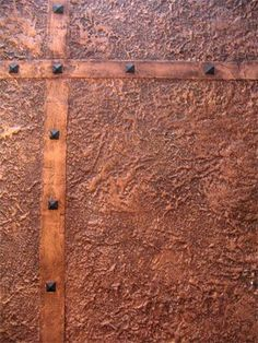 faux hammered copper- looks like a great finish.: