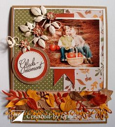 Crafts: A lucky moment Scrapbooks, Stencil, Joy, In This Moment, Autumn, Create, Cards, Decor, Decoration