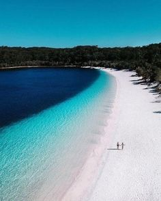 We really lake it here. 💙 visited the beautiful on her recent trip, an always-blue perched lake on… Beautiful Places To Visit, Beautiful Beaches, Travel Pictures, Travel Photos, Zen, Sand Island, Road Trip, Fraser Island, Wanderlust
