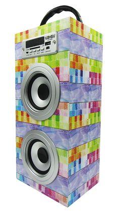 Altavoz Caja Portátil con Bluetooth, Radio, SD, USB, MP3, Inalámbrico y Con Batería Recargable 99614 - https://complementoideal.com/producto/audios/altavoz-caja-portatil-con-bluetooth-radio-sd-usb-mp3-inalambrico-y-con-bateria-recargable-99614/  - Altavoz Portátil Bluetoothcon el que podrás escuchar toda tu música sin necesidad de cables y en cualquier lugar, conecta todos tus dispositivos mediante la tecnologíaBluetooth fácilmente y comienza a divertirte. Altav