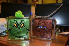 Grinch and Max Glass Blocks!