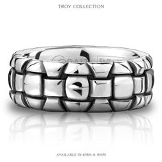 Cobalt wedding band. Awesome style and made of the worlds most durable contemporary metal