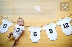 This tip made me think of you: Monthly Infant Picture Ideas
