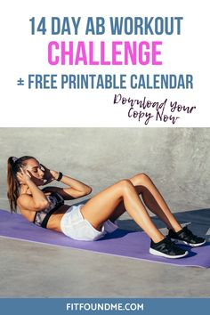 The It's Not Too Late Ab Workout for Women Over 40 + Printable Calendar Great Ab Workouts, Best Ab Workout, Abs Workout For Women, Workout For Beginners, Free Workout, Cardio Workouts, My Fitness Pal App, Fitness Herausforderungen, Workout Fitness