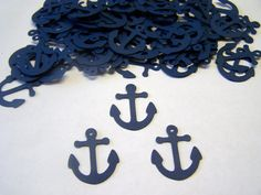 Hey, I found this really awesome Etsy listing at https://www.etsy.com/listing/151434930/100-navy-blue-anchor-confetti-nautical