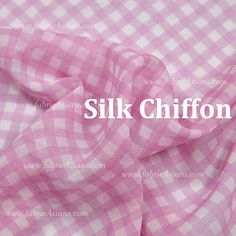 Checked Fabric in pink and white by fabricAsians on Etsy