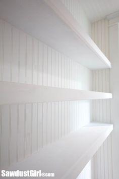 Floating Shelves - Studio Closet