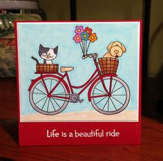 Jana Millen | life is a Beautiful ride bike card | Having fun with a new Simon Says Stamp set