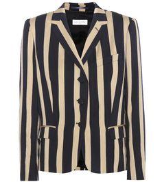 Dries Van Noten - Beryl striped wool-blend blazer - Dries Van Noten's Beryl…