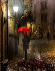 Writing alone builds your character, and also you characters, Walking in the rain alone is can console your spirit. Walking In The Rain, Singing In The Rain, Rain Photography, Street Photography, Portrait Photography, Rain And Thunderstorms, City Rain, I Love Rain, Rain Days